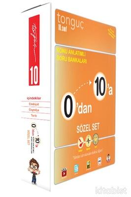 Tonguç Akademi - 10.Sınıf 0'dan 10'a Konu Anlatımlı Soru Bankası Sözel Set (3 Kitap Takım)