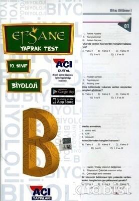 Açı Yayınları - 10.Sınıf Biyoloji Çek Kopar Yaprak Test