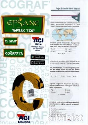 Açı Yayınları - 10.Sınıf Coğrafya Çek Kopar Yaprak Test