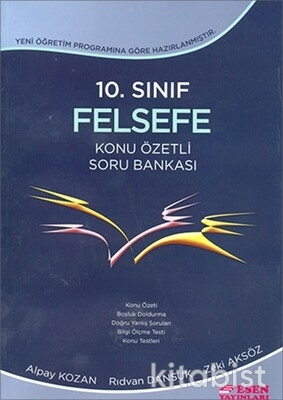 Esen Yayınları - 10.Sınıf Felsefe Konu Özetli Soru Bankası