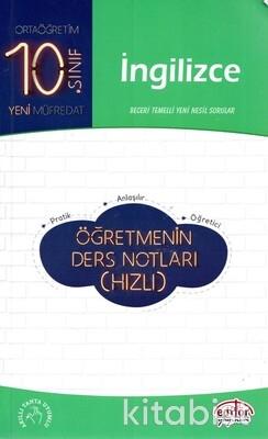 Editör Yayınları - 10.Sınıf İngilizce Öğretmenin Ders Notları(Hızlı)