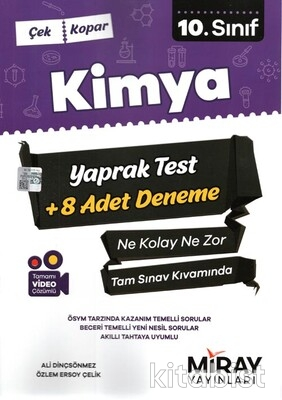 Miray Yayınları - 10.Sınıf Kimya Çek-Kopar Yaprak Test
