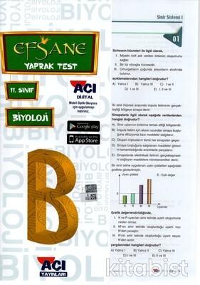 Açı Yayınları - 11.Sınıf Biyoloji Çek Kopar Yaprak Test