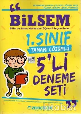 Zeki Çocuk Yayınları - 1.Sınıf Bilsem Tamamı Çözümlü 5'li Deneme Sınavı