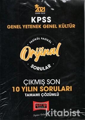 Yargı Yayınları - KPSS 2021 GY-GK Orijinal Sorular Fasikül Tamamı Çözümlü Çıkmış Son 10 Yılın Soruları