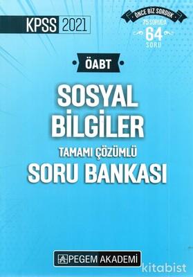 Pegem Yayınları - 2021 KPSS ÖABT Sosyal Bilgiler Tamamı Çözümlü Soru Bankası