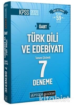 Pegem Yayınları - 2021 KPSS ÖABT Türk Dili ve Edebiyatı Tamamı Çözümlü 7 Deneme