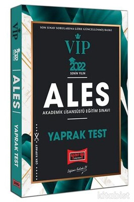 Yargı Yayınları - 2022 ALES VIP Yaprak Test