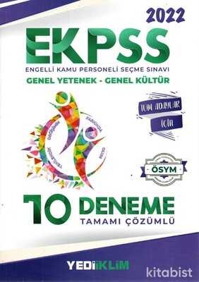 Yedi İklim Yayınları - 2022 EKPSS Tüm Adaylar Tamamı Çözümlü 10 Deneme