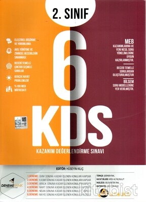Deneme Bank Yayınları - 2.Sınıf Kazanım Değerlendirme 6'lı Deneme Sınavı
