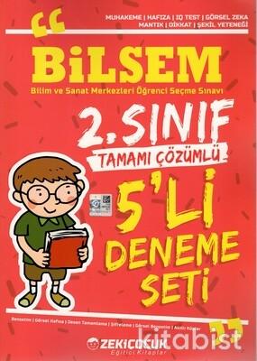 Zeki Çocuk Yayınları - 2.Sınıf Bilsem Tamamı Çözümlü 5'li Deneme Sınavı