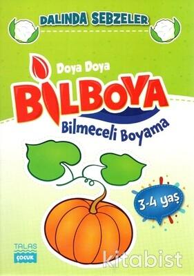 Talas Çocuk - 3-4 Yaş - Doya Doya Bil Boya - Bilmeceli Boyama - Dalında Sebzeler