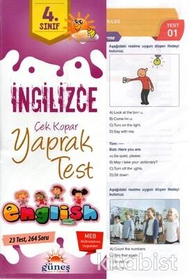 Güneş Yayınları - 4.Sınıf İngilizce Yaprak Test