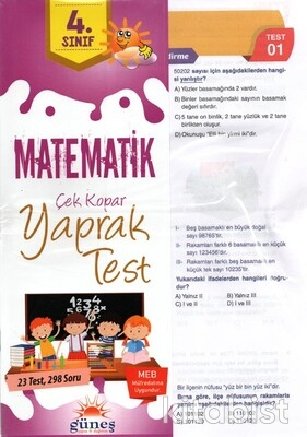 Güneş Yayınları - 4.Sınıf Matematik Yaprak Test
