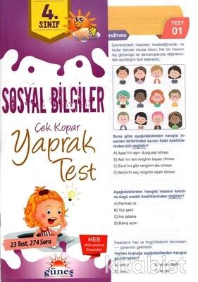 Güneş Yayınları - 4.Sınıf Sosyal Bilgiler Yaprak Test