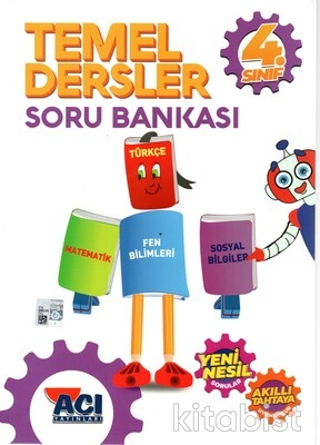 Açı Yayınları - 4.Sınıf Temel Dersler Soru Bankası