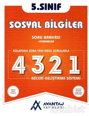 Avantaj Yayınları - 5.Sınıf Sosyal Bilgiler Soru Bankası + Denemeler