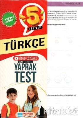 Evrensel Yayınları - 5.Sınıf Türkçe Yaprak Test