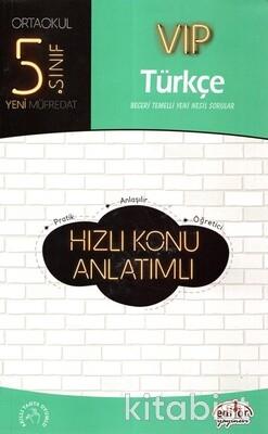 Editör Yayınları - 5.Sınıf Vıp Türkçe Hızlı Konu Anlatımlı