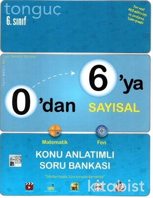 Tonguç Akademi - 6.Sınıf 0'dan 6'ya Sayısal Konu Anlatımlı Soru Bankası