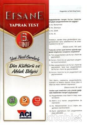 Açı Yayınları - 6.Sınıf Din Kültürü ve Ahlak Bilgisi Çek Kopar Yaprak Test