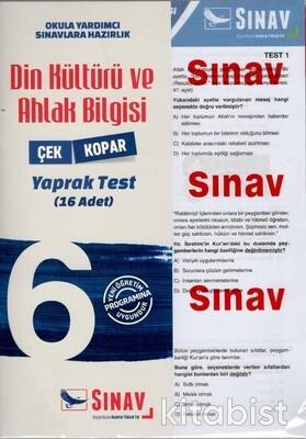 Sınav Yayınları - 6.Sınıf Din Kültürü ve Ahlak Bilgisi Yaprak Test