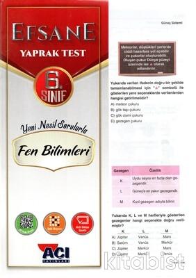 Açı Yayınları - 6.Sınıf Fen Bilimleri Çek Kopar Yaprak Test