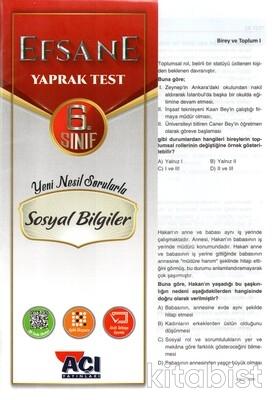 Açı Yayınları - 6.Sınıf Sosyal Bilgiler Çek Kopar Yaprak Test
