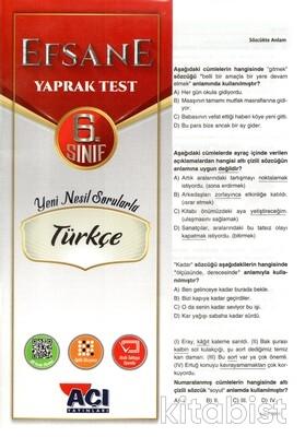 Açı Yayınları - 6.Sınıf Türkçe Çek Kopar Yaprak Test