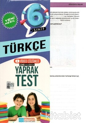 Evrensel Yayınları - 6.Sınıf Türkçe Yaprak Test