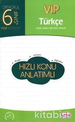 Editör Yayınları - 6.Sınıf Vıp Türkçe Hızlı Konu Anlatımlı