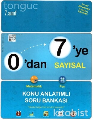 Tonguç Akademi - 7.Sınıf 0'dan 7'ye Sayısal Konu Anlatımlı Soru Bankası