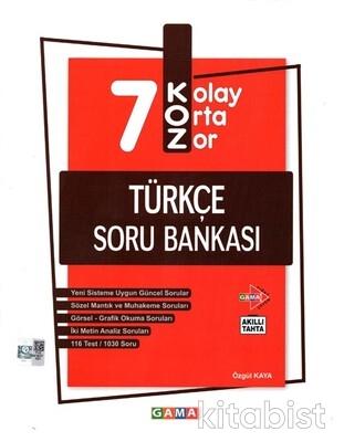 Gama Okul - 7.Sınıf Koz Türkçe Soru Bankası