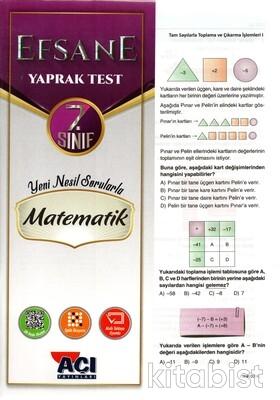 Açı Yayınları - 7.Sınıf Matematik Çek Kopar Yaprak Test
