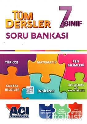 Açı Yayınları - 7.Sınıf Tüm Dersler Soru Bankası