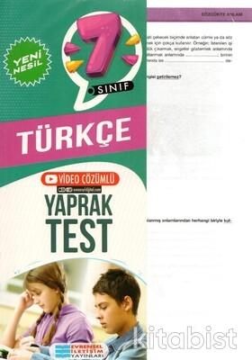 Evrensel Yayınları - 7.Sınıf Türkçe Yaprak Test