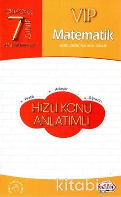 Editör Yayınları - 7.Sınıf Vıp Matematik Hızlı Konu Anlatımlı