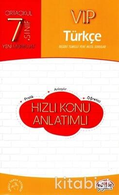 Editör Yayınları - 7.Sınıf Vıp Türkçe Hızlı Konu Anlatımlı
