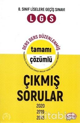 Editör Yayınları - 8.Sınıf Çıkmış Sorular Ders Ders Tamamı Çözümlü