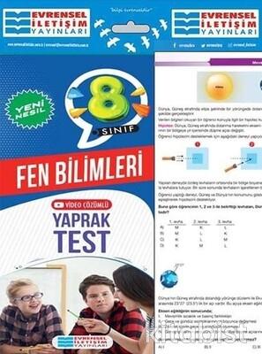 Evrensel Yayınları - 8.Sınıf Fen Bilimleri Yaprak Test