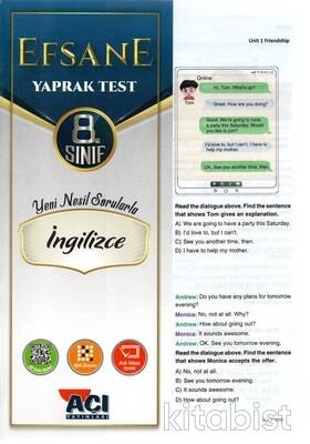 Açı Yayınları - 8.Sınıf İngilizce Çek Kopar Yaprak Test