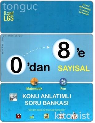 Tonguç Akademi - 8.Sınıf LGS 0'dan 8'e Sayısal Konu Anlatımlı Soru Bankası