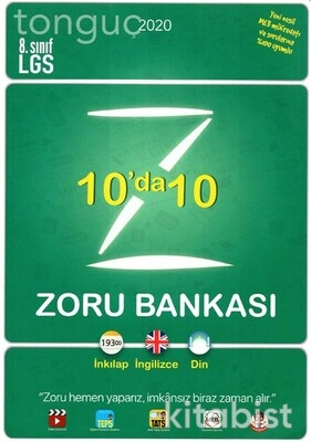 Tonguç Akademi - 8.Sınıf LGS 10'da 10 Zoru Bankası - 2021