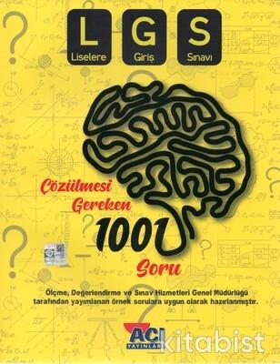 Açı Yayınları - 8.Sınıf LGS Çözülmesi Gereken 1001 Soru