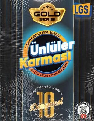 Ünlüler Yayınları - 8.Sınıf LGS Gold Serisi Ünlüler Karması 10'lu Deneme