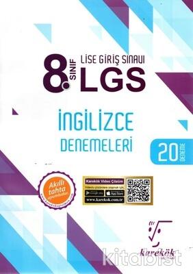 Karekök Yayınları - 8.Sınıf LGS İngilizce 20'li Deneme Sınavı
