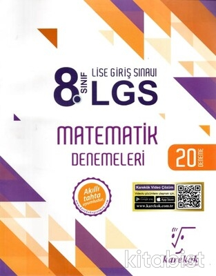 Karekök Yayınları - 8.Sınıf LGS Matematik 20'li Deneme Sınavı
