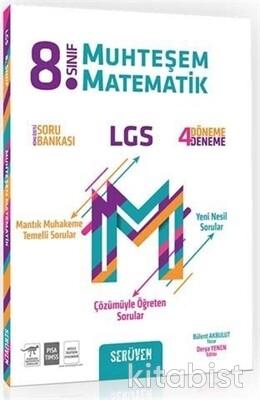 Serüven Yayınları - 8.Sınıf LGS Muhteşem Matematik Konu Özetli Soru Bankası