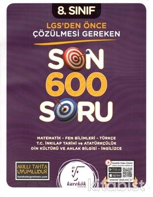 Karekök Yayınları - 8.Sınıf LGS Öncesi Çözülmesi Gereken Son 600 Soru
