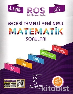 Karekök Yayınları - 8.Sınıf LGS Beceri Temelli Yeni Nesil Matematik Soru Bankası